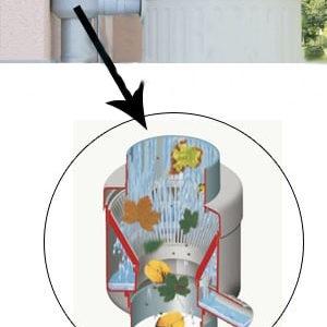 Фильтр-отделитель листвы для декоративных ёмкостей (Rapido,серый)